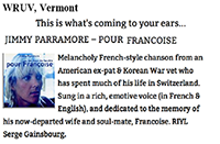WRUV Vermont Jimmy Parramore